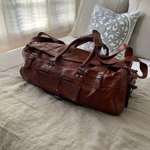 Leather Duffle Bag Luggage